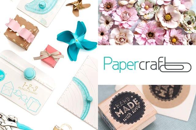 Papercraft: Υλικά και εργαλεία για όλες τις χειροτεχνίες σου